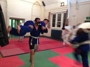 Some Gi grappling and rolling